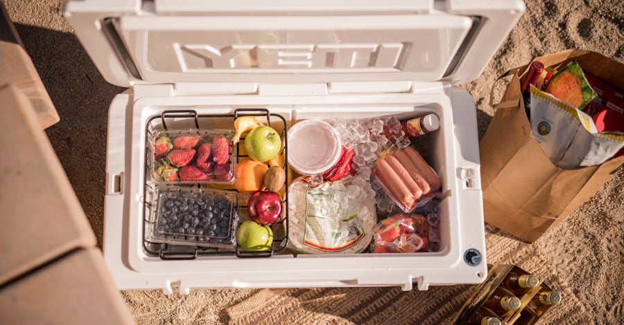 Storing food in a cooler