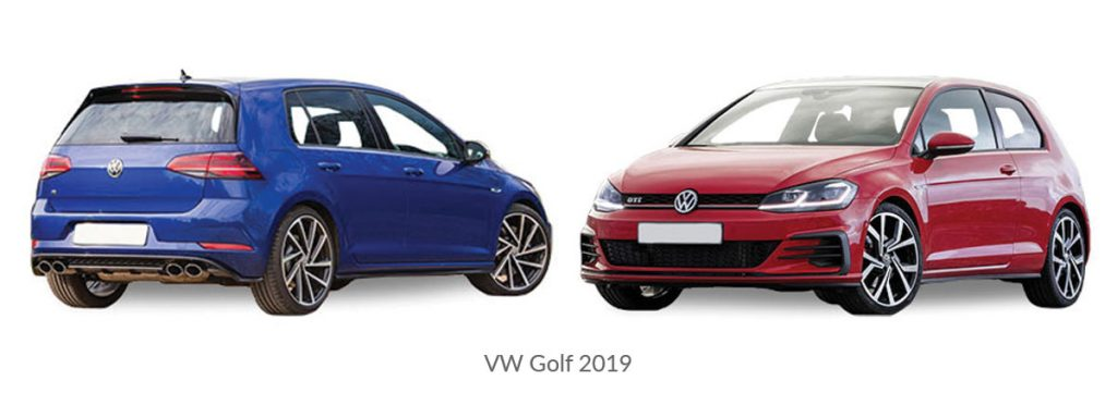VW-Golf 2019 car model