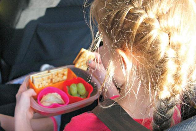 Snacks for children when travelling