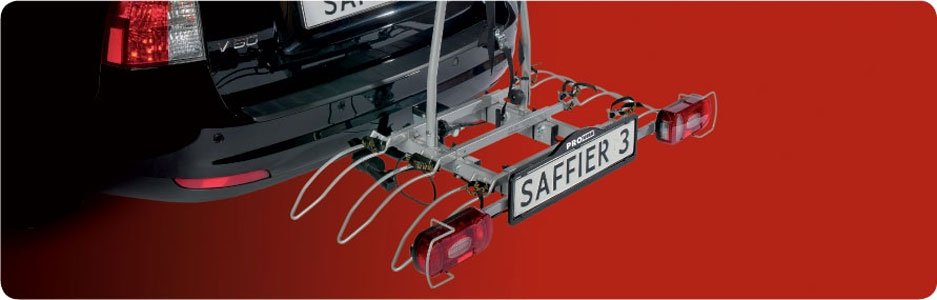 Saffier towbar mounted 4 bike cycle carrier