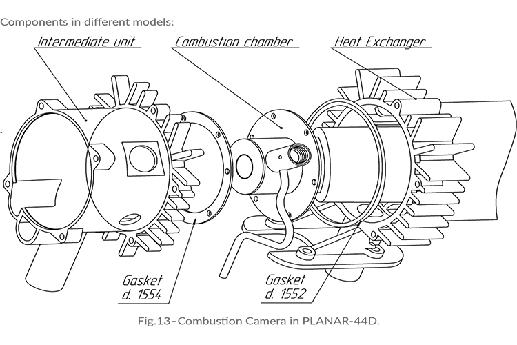 Planar Removal and Replacement of Combustion Chamber