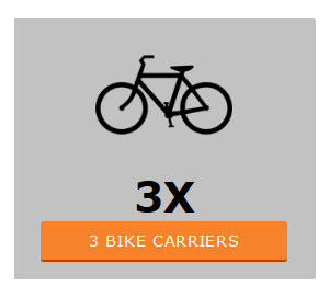 Three bike carriers