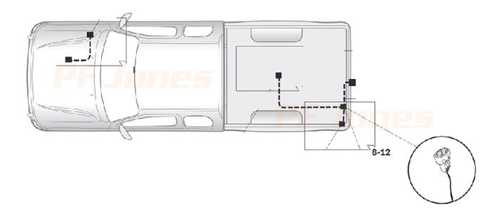 Nissan Navara Towbar Wiring Kits on fog lights diagram, suspension diagram, headlight adjustment diagram,