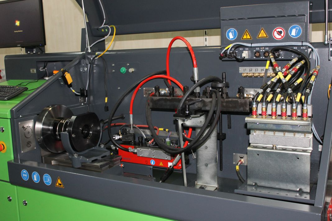 State of the art equipment and test benches to test check