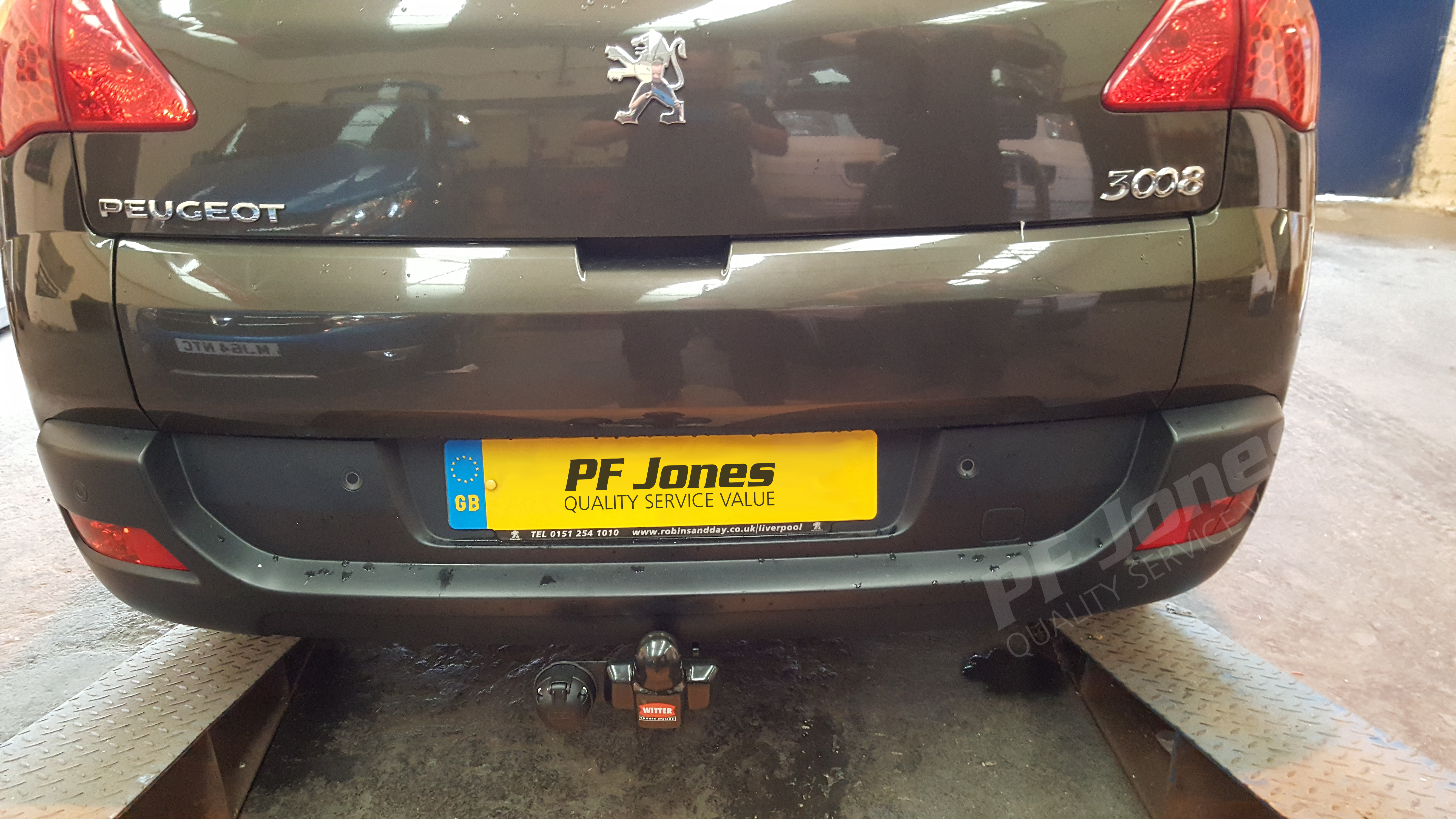 Peugeot 3008 Crossover 2009 2017 Witter Fixed Flange Towbar
