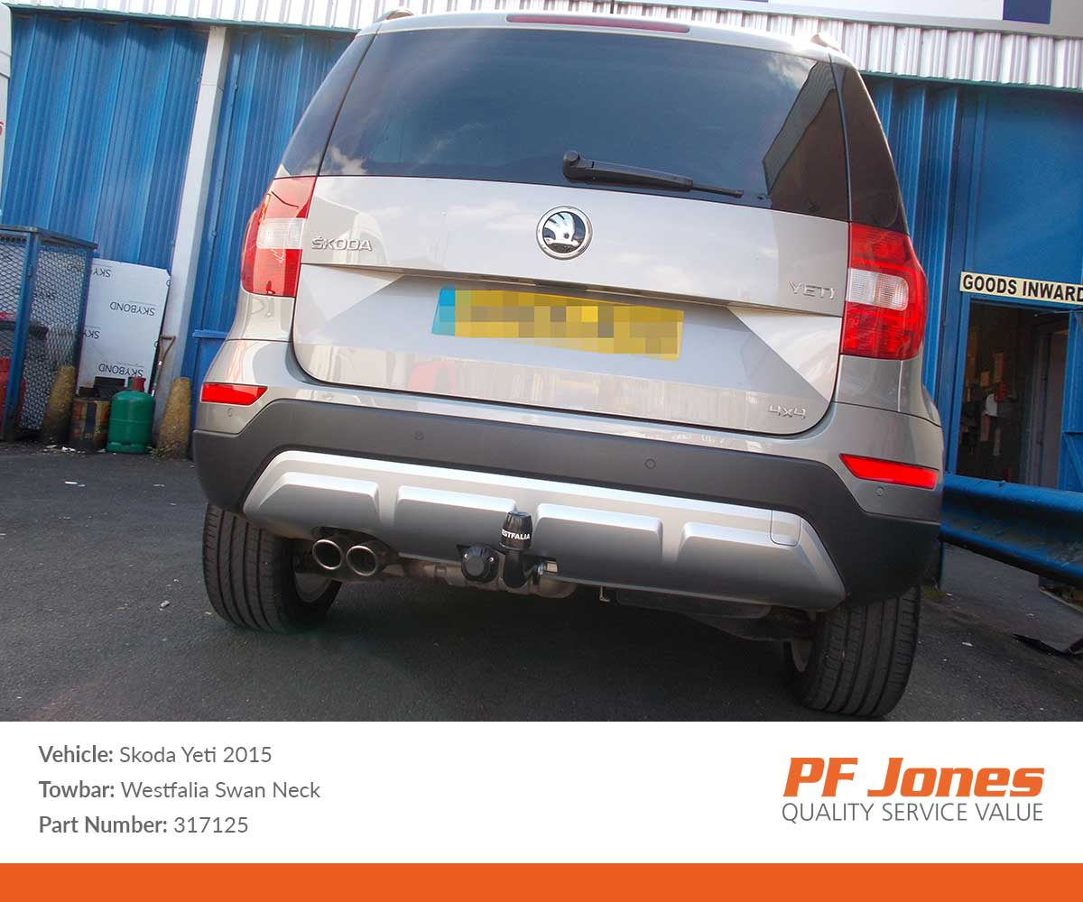 Skoda Yeti 2009 Onwards Westfalia Swan Neck Towbar