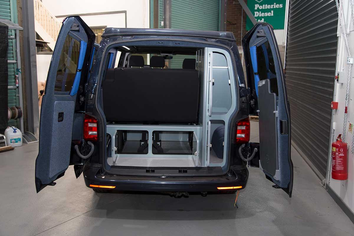 campervan conversions volkswagen transporter t6. Black Bedroom Furniture Sets. Home Design Ideas
