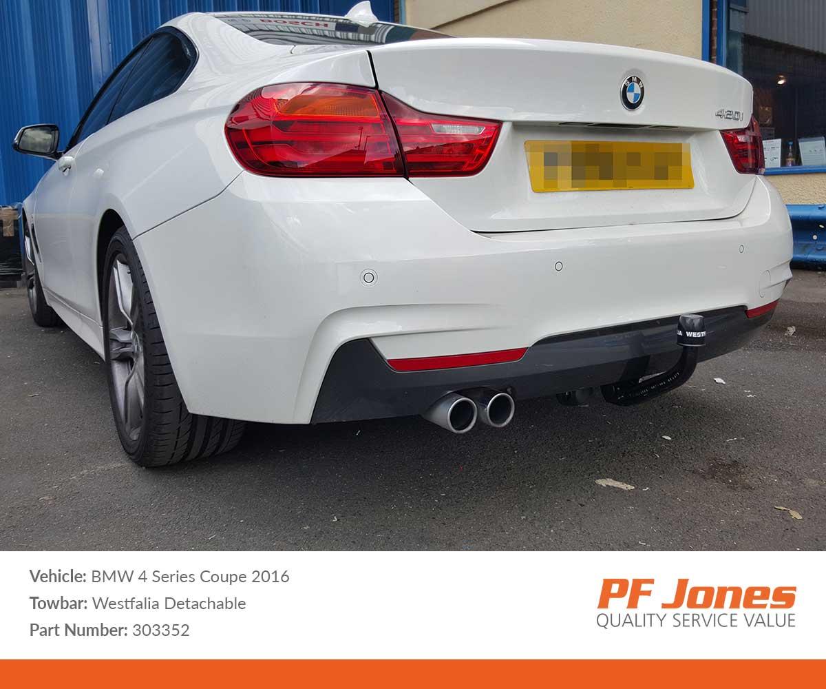 BMW 4 Series Coupe 2013 Onwards Westfalia Detachable Tow Bar