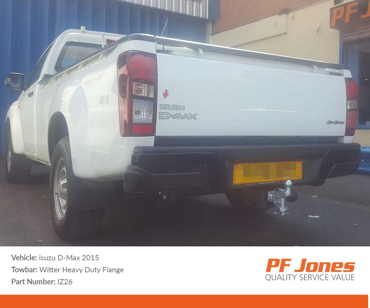 4WD Four Hole faceplate for Isuzu D-MAX Pickup from 06//2012 Witter Towbars IZ26 Fixed Flange Commercial Towbar