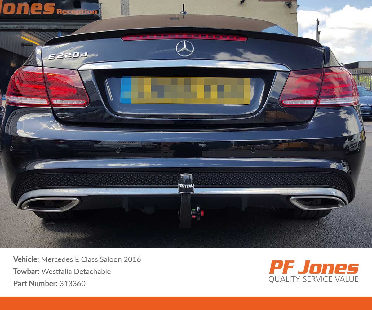 MERCEDES E-CLASS 2009-2016 W212 Saloon Detachable Towbar with Electric Kit 7Pin