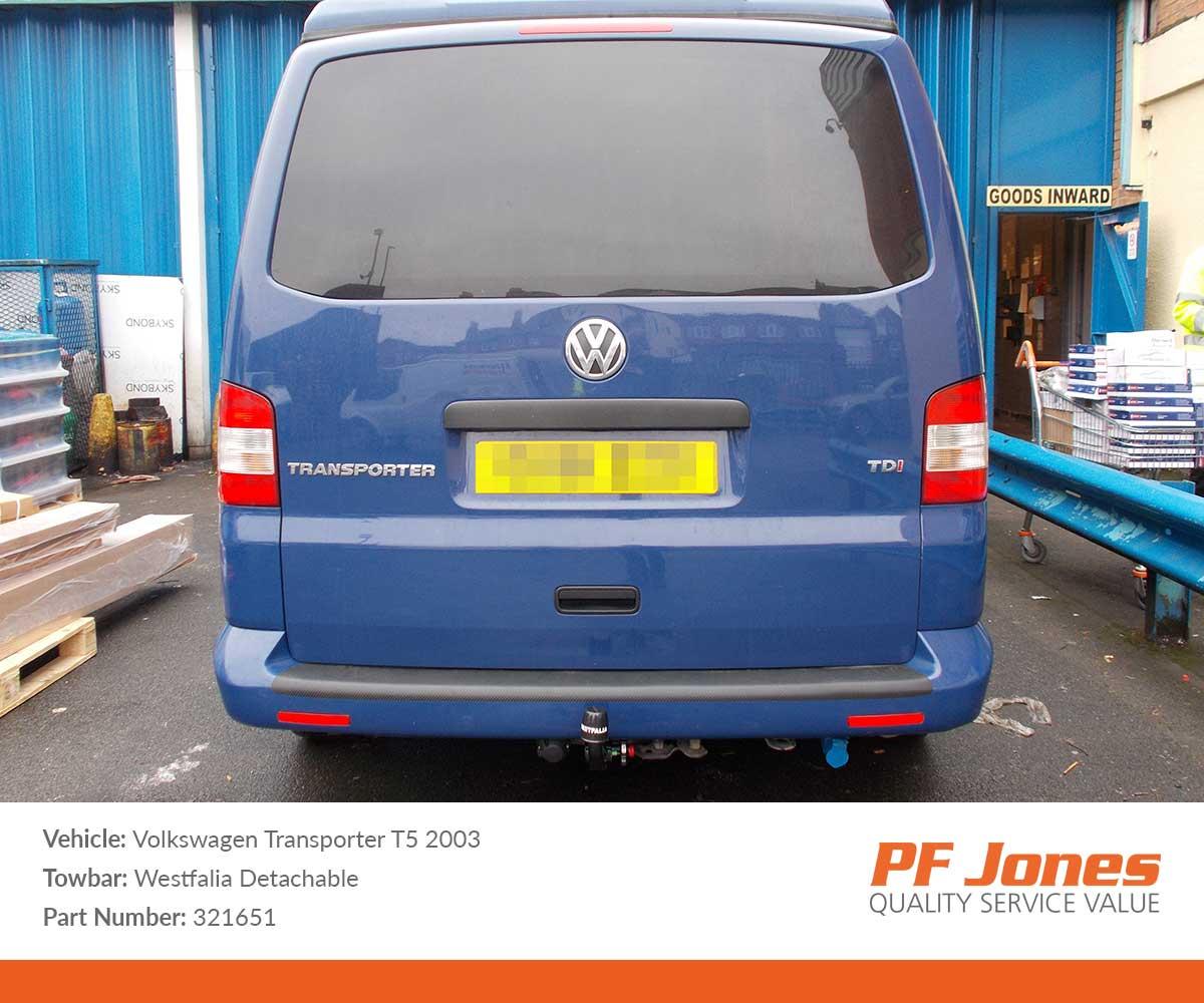 Volkswagen T5 Transporter 2009-2015 Westfalia Detachable Towbar