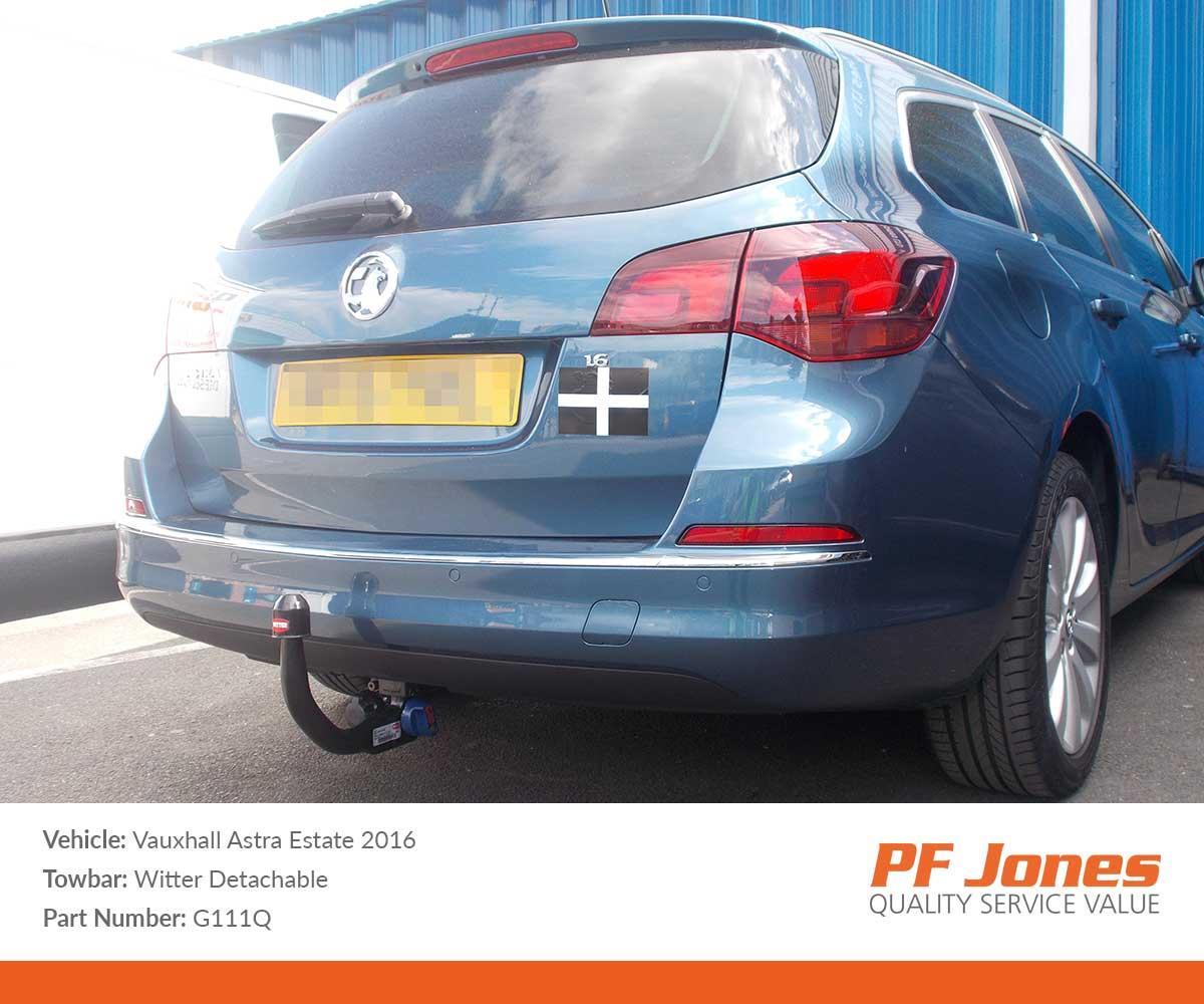Vauxhall Astra Sports Tourer 2010 2015 Witter Detachable Tow Bar Wiring Swan Neck