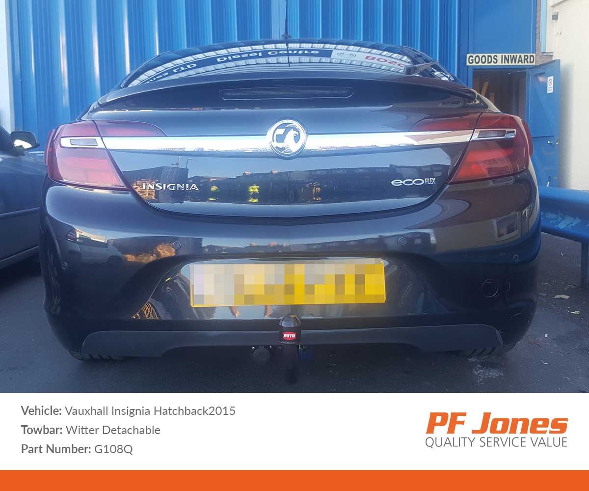 Vauxhall Insignia Hatchback 2009 2016 Witter Detachable Towbar Tow Bar Wiring Onwards