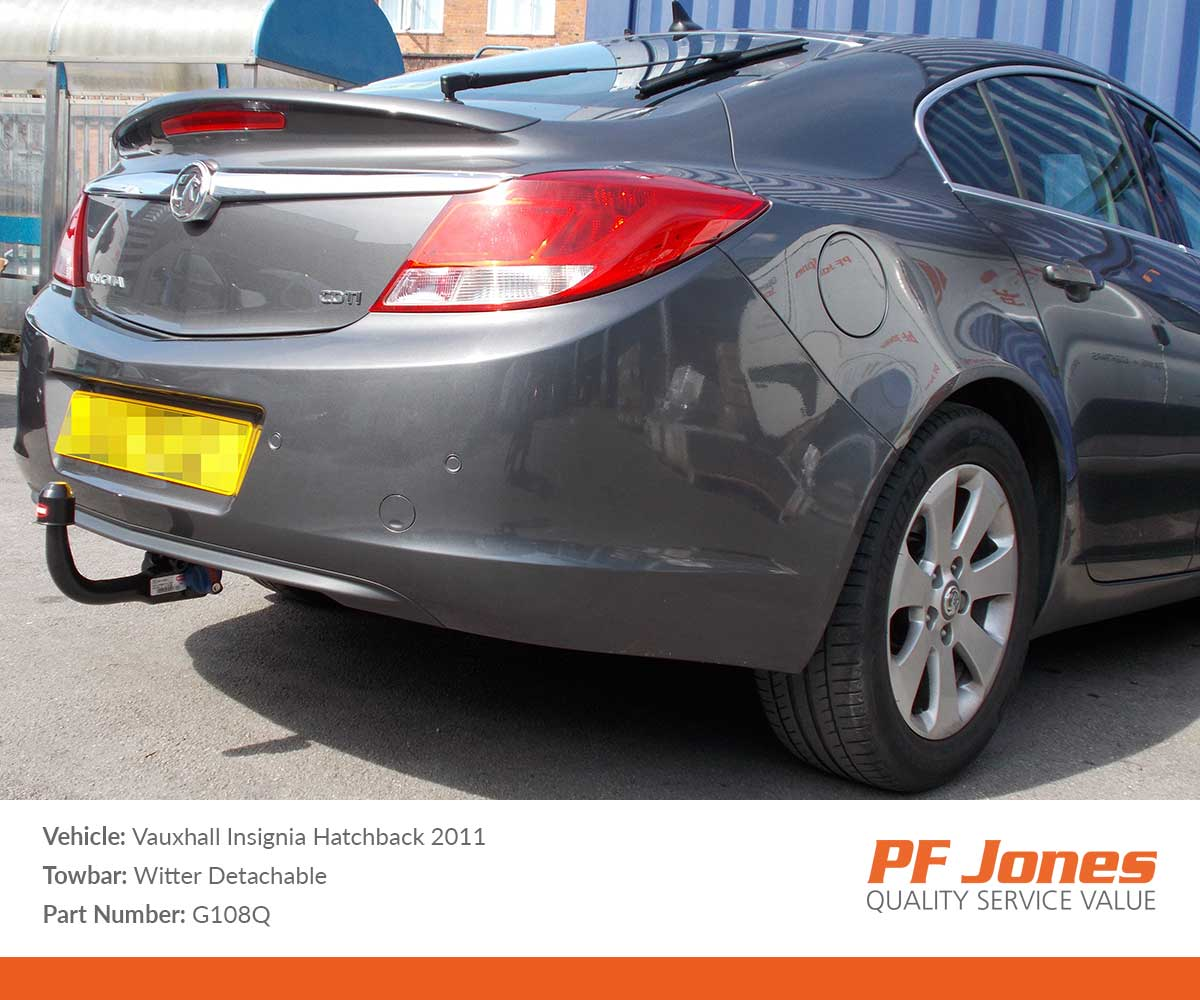 Vauxhall Insignia Hatchback 2009-2016 Witter Detachable Towbar