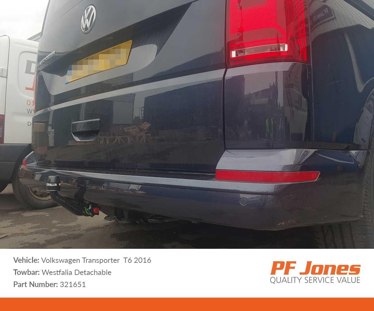 Volkswagen T6 Transporter 2015 Onwards Westfalia Detachable Towbar