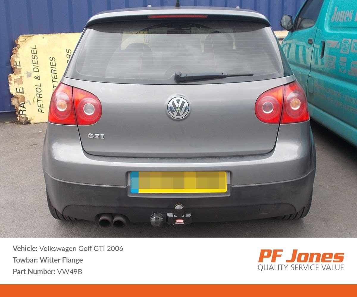 Volkswagen Golf Hatchback VI 2009 wards Witter Flange Towbars