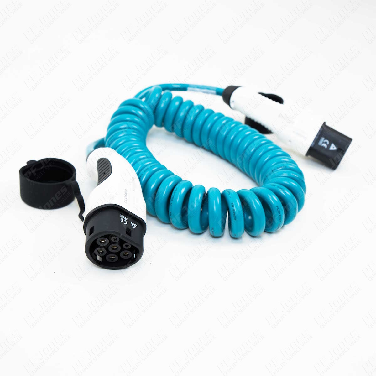 4.5m (Spiral) 20 Amp Type 2 to Type 2 EV Charging Cable