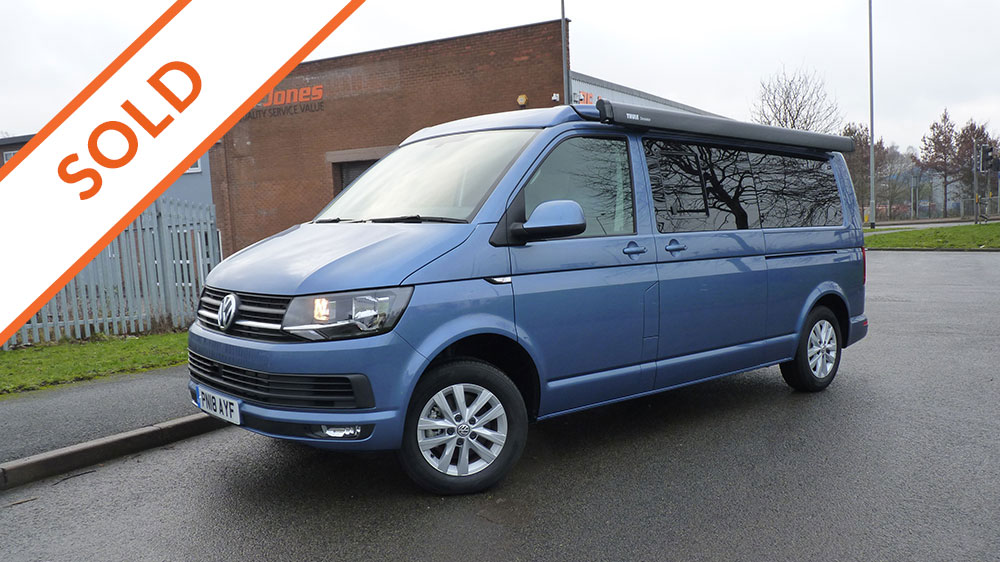 Blue VW T6 LWB Campervan Conversion