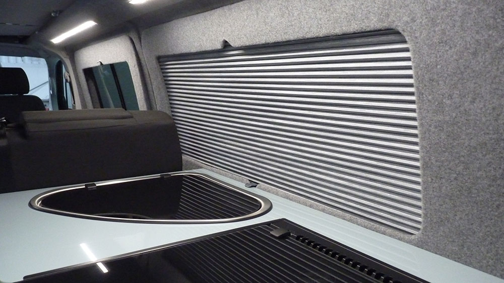 VW T6 LWB Interior - Insulated Interior Panels/Thermal Blackout Blinds