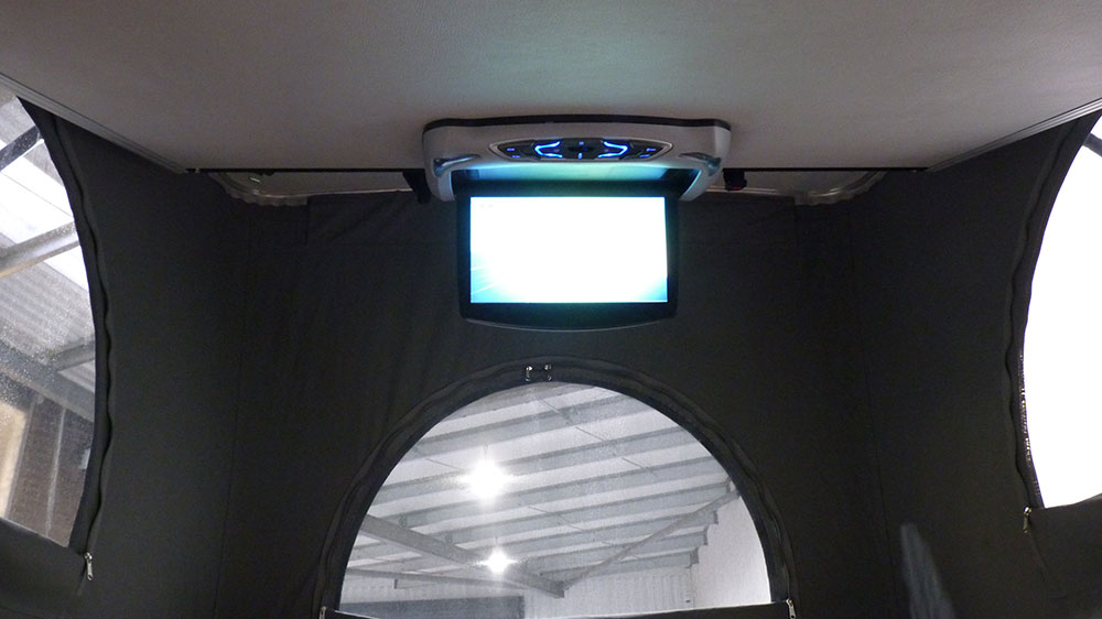 Renault Trafic SWB Interior - Overhead DVD/Media Player