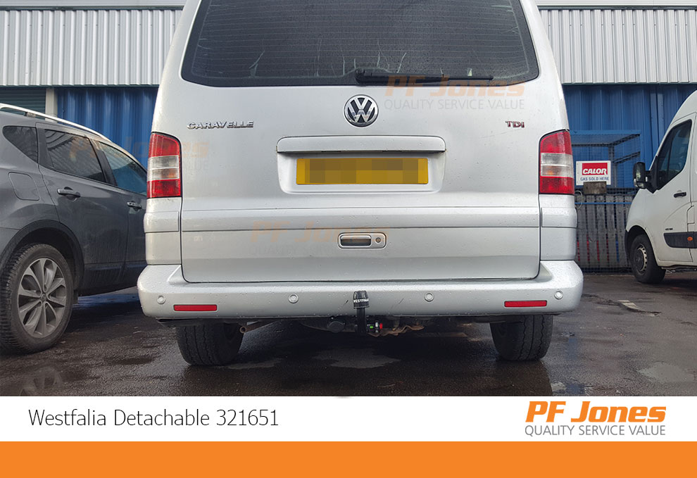 Volkswagen Transporte Detachable towbar fitted