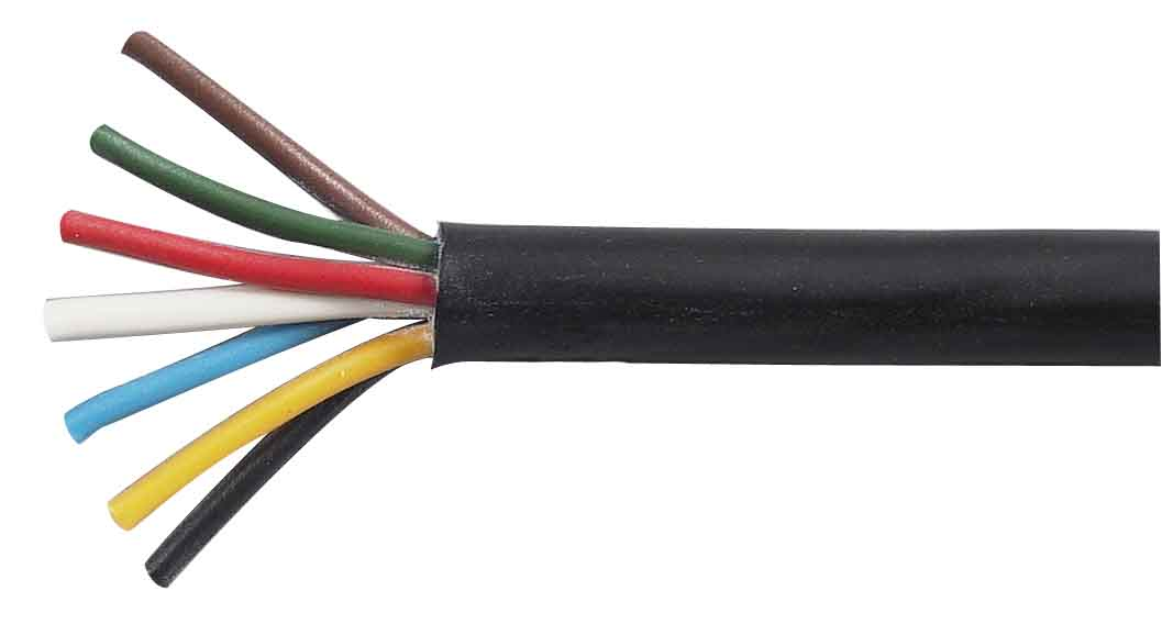 7 Core ISO PVC Auto Cable - 6 x 1.5mm² and 1 x 2.5mm² - 30 Metre Reel