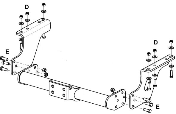 iveco daily witter tow bar 35