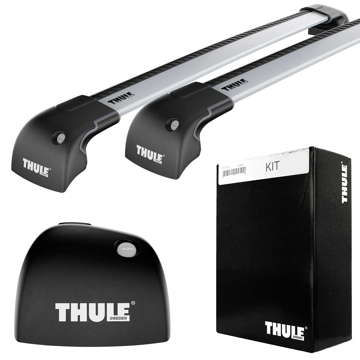 bmw thule wingbar edge silver 9595 kit 4023. Black Bedroom Furniture Sets. Home Design Ideas