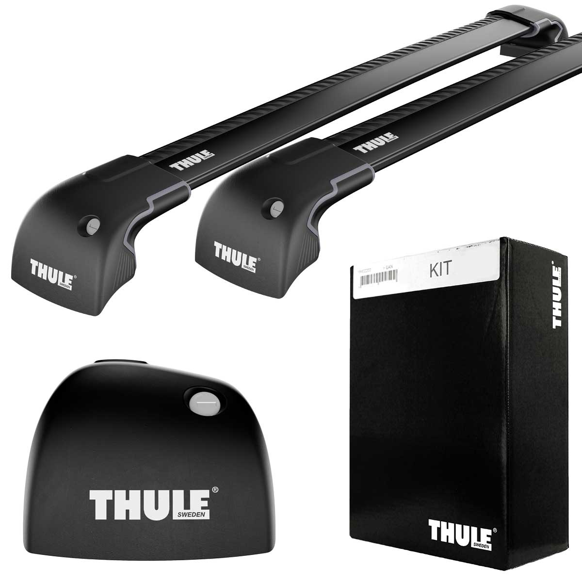 mercedes thule wingbar edge black 9594 kit 4068. Black Bedroom Furniture Sets. Home Design Ideas