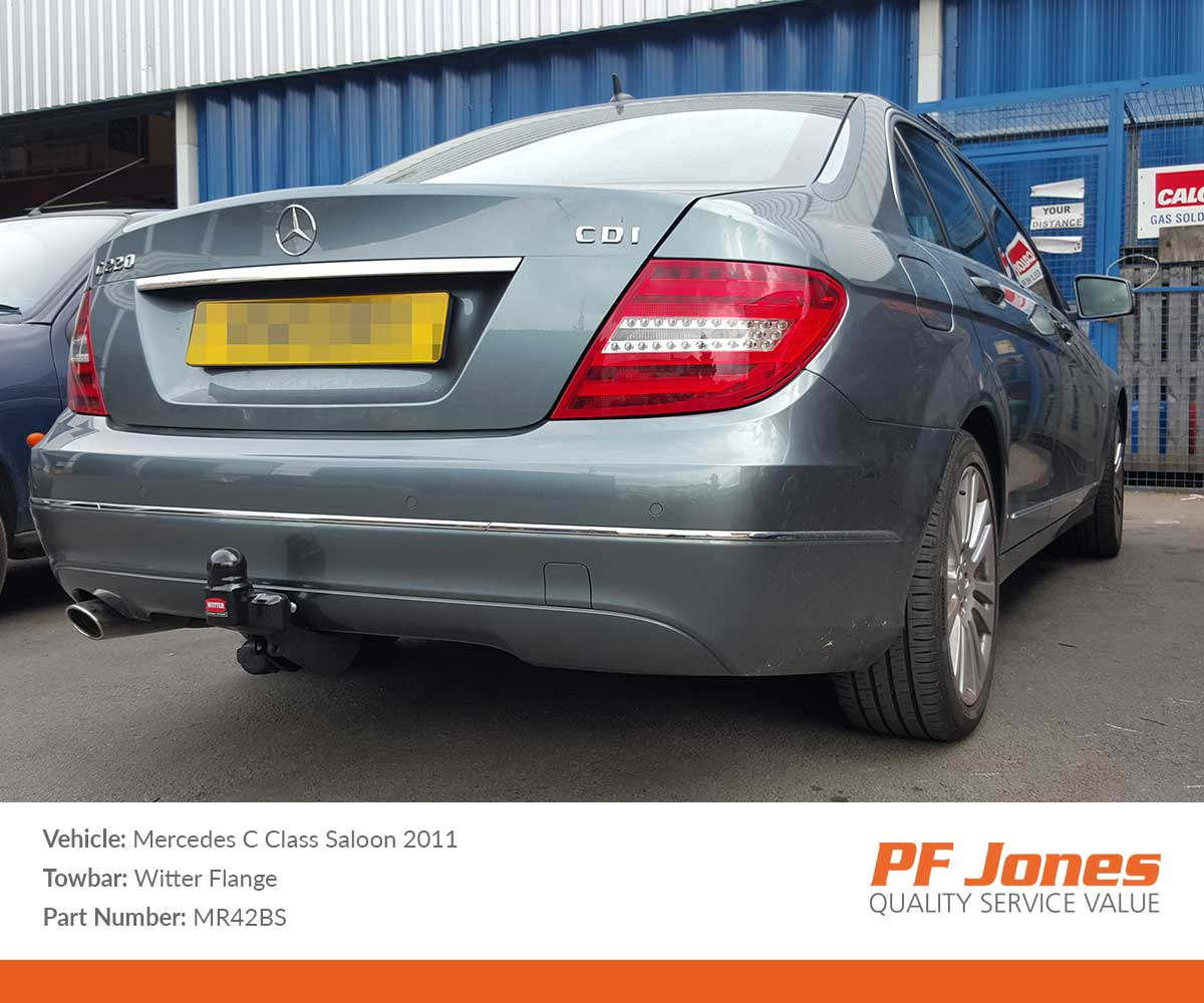 MERCEDES C-CLASS 2007-2014 S204 Estate Swan Neck Tow Bar with Electric Kit 7Pin