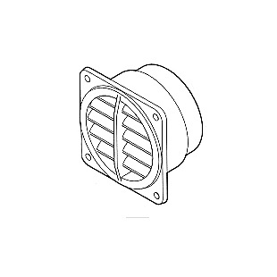 Eberspacher Rotatable Grill, Fixed Open 75mm