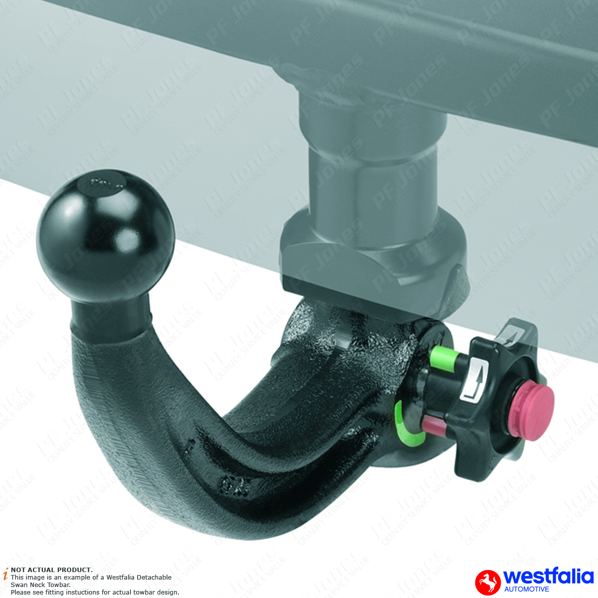 Audi A4 Westfalia Vertical Detachable towbar