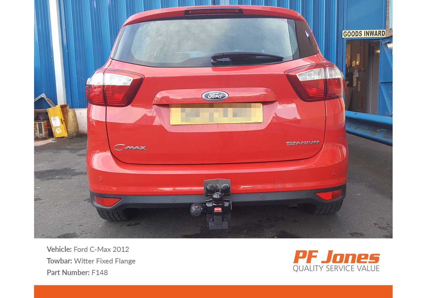 Ford C-Max 2010-2019 Witter Fixed Flange tow bar