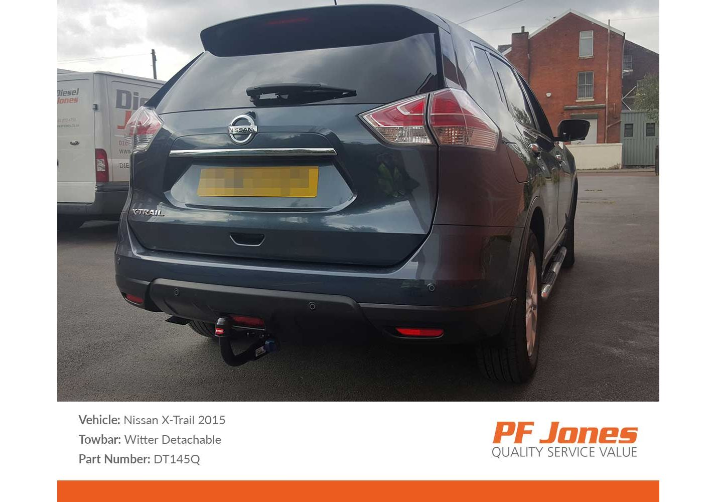 Witter Towbars DT145Q Detachable Swan Neck Towbar for Nissan X-Trail SUV not AdBlue from 2014
