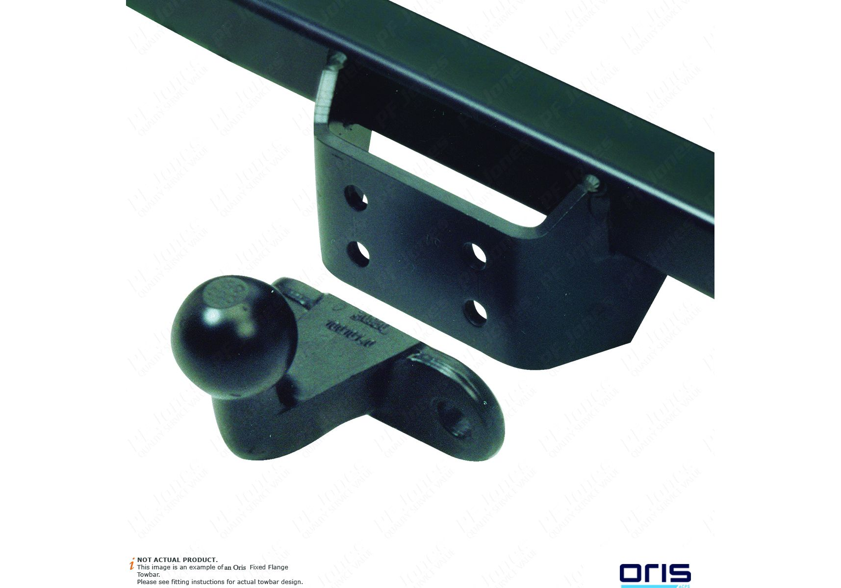 1999-2014 Iveco Daily Chassis Cab IV02A Fixed Flange Tow Bar 30-49 Models