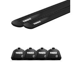 Thule WingBar Evo Black + Evo Raised Rail 7104