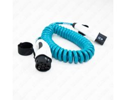4.5m (Spiral) 16 Amp Type 2 to Type 1 EV Charging Cable