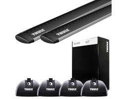 Ford - Thule WingBar Evo Black 7115 + Rapid System 753 + Kit THU3123