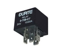 12V Mini Change Over Relay Sealed with Resistor - 20/30A 0-728-15