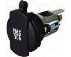 Power Socket with Cover - 20A 0-601-01