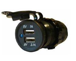 USB 2-Port Socket 12 volt