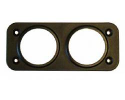 2 Hole Front Panel Mount for 28mm Sockets 0-601-57
