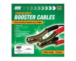 BOOSTER CABLE, PEAK OUTPUT 170A, 7.5mm² x 2M, POLYBAG CCA