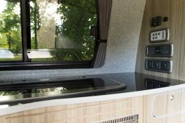 Kitchen Worktop & Plug Sockets - VW T5 Campervan Conversion