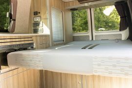 RIV Crash Tested Bed - VW T5 Campervan Conversion