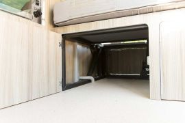 Under Passenger Seat Storage - VW T5 Campervan Conversion