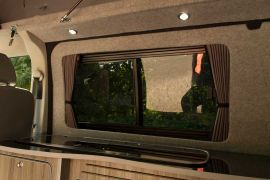 Tinted Windows & Black out Curtains - VW T5 Campervan Conversion