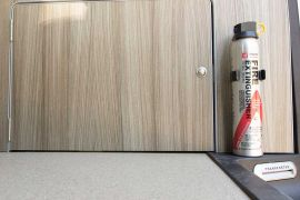 Fire Extinguisher & Storage - VW T5 Campervan Conversion