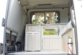 Space Optimising Layout - VW T5 Campervan Conversion