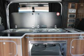 Gas powered cooking facilities - Toyota ProAce Campervan Conversion